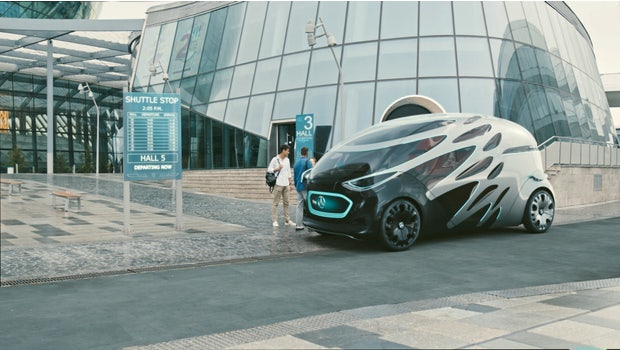 Mercedes-Benz Vision Urbanetic: People-Mover-Modul. (Bild: Mercedes-Benz)
