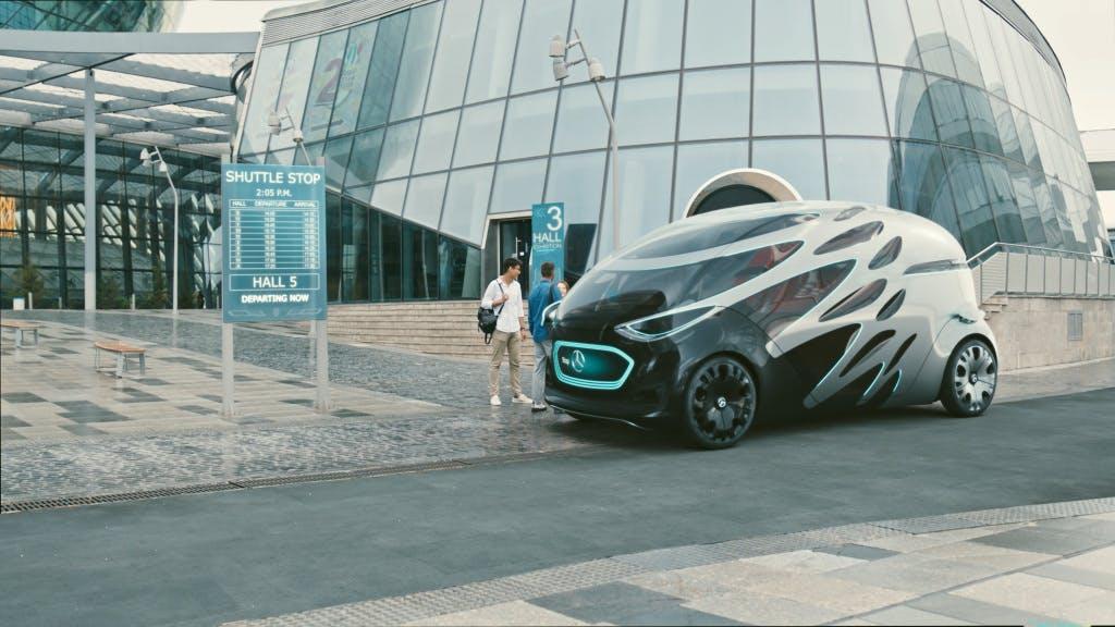 Mercedes-Benz Vision Urbanetic: People-Mover-Modul. (Bild: Mercedes-Benz)