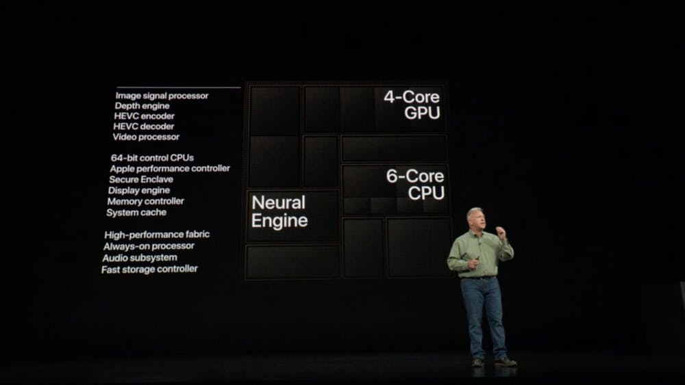 A12 Bionic-Chip mit Neural Engine. (Screenshot: t3n.de)