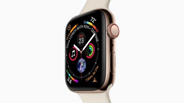 Die Apple Watch Serie 4 wird laut 9to5 Mac ein etwa 15 Prozent größeres Display erhalten und wie auf dem Bild (kein Mockup) aussehen. (Bild: 9to5Mac)