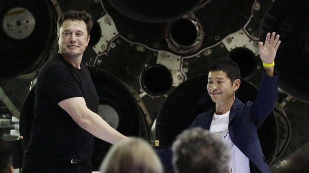 Weltraumtourismus: Der erste SpaceX-Passagier ist ein japanischer Milliardär