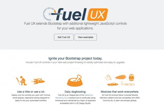 Fuel-UX liefert leichte Javascript-Erweiterungen für Bootstrap. (Screenshot: t3n.de)