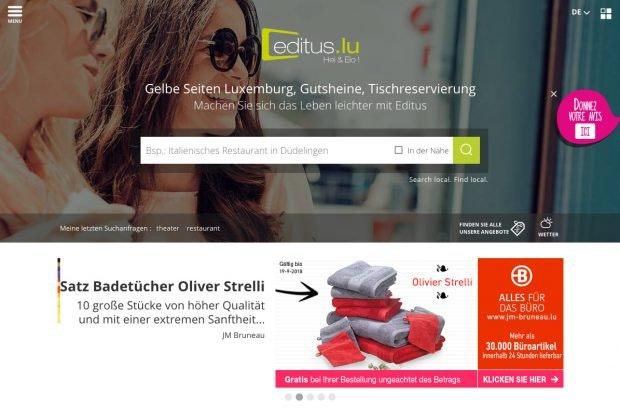 Editus.lu richtet sich an Luxemburger. (Screenshot: Editus.lu)
