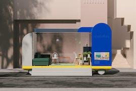 Natürlich hat das Team von Ikea auch an einen autonomen Showroom gedacht. (Grafik: Space10)