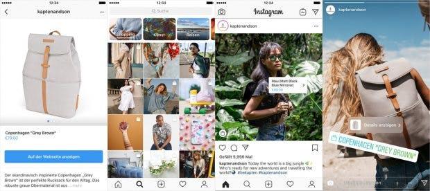 Instagram weitet die Shopping-Funkion aus. (Screenshots: Instagram)