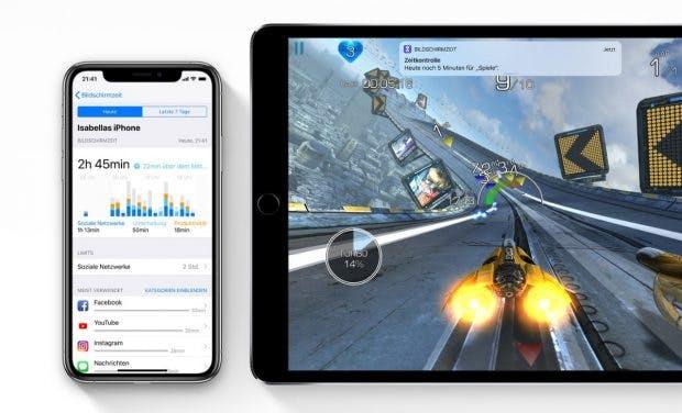 """""""Bildschirmzeit"""": iOS 12 zeigt auf, wie oft und wie lange ihr welche Apps verwendet. (Bild: Apple)"""