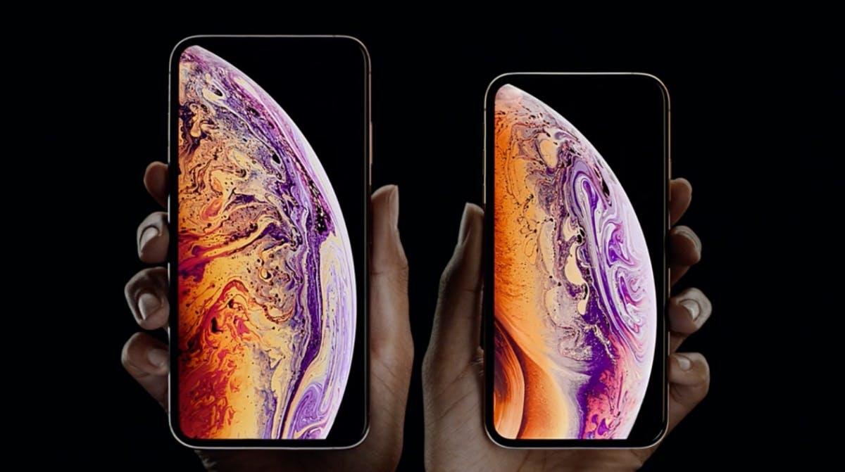 iPhone Xs und iPhone Xs Max. (Screenshot: t3n)