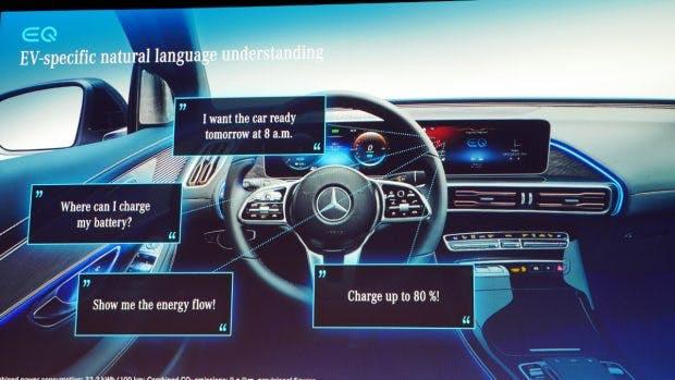 MBUX an Bord: Per Sprache kann der Mercedes EQC auch gesteuert werden. (Foto: t3n.de)