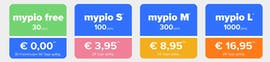 Die Mypio-Tarifmodelle im Überblick. (Screenshot: Mypio)