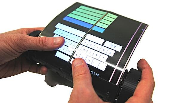 Flexibles Display – Wissenschaftler entwickeln rollbares Tablet