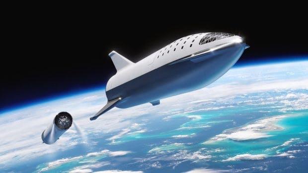 Konzeptbild: Mit dieser Raumkapsel sollen Yusaku Maezawa und seine Begleiter einmal um den Mond fliegen. (Foto: SpaceX)