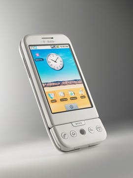Das T-Mobile G1 war das erste Android-Smartphone. (Bild: T-Mobile)