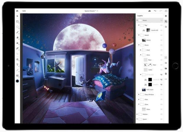 Adobe kündigt Photoshop CC für das iPad an. (Grafik: Adobe)