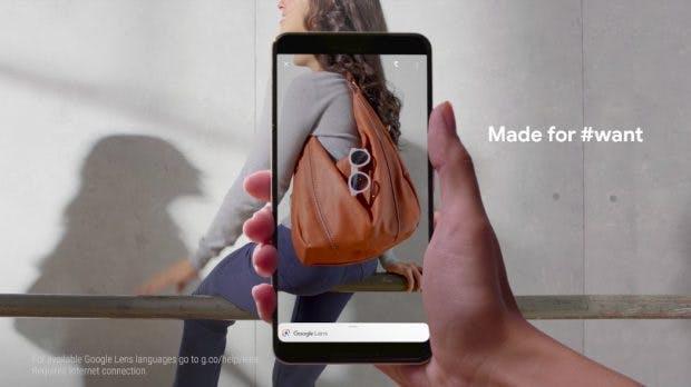 Google Lens kann beim Pixel 3 in Echtzeit Produkte erkennen. (Bild: Google)