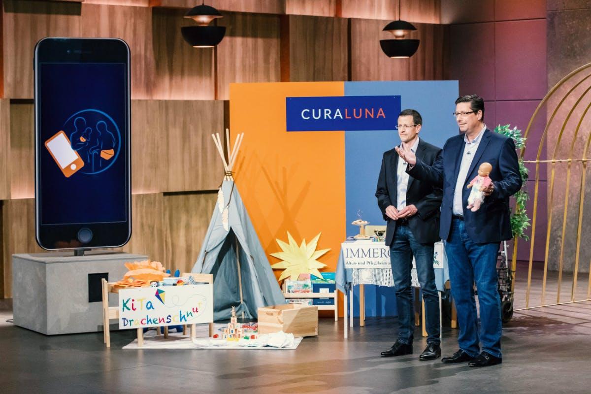 Christoph Hohl (l.) und Dr. Frank Steinmetz von Curaluna (Foto: MG RTL D)