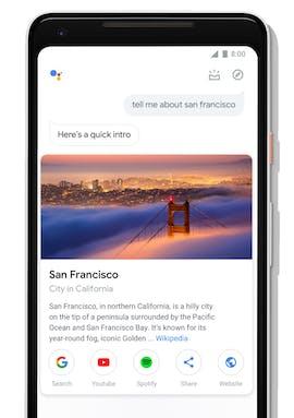 Das neue Interface des Google Assistant auf Smartphones mit neuen Visuals. (Bild: Google)