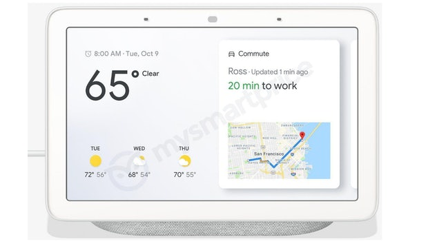 """So sieht der Google-Home-Hub in Grau aus. (Bild: <a href=""""https://www.mysmartprice.com/gear/google-home-hub/""""Mysmartprice</a>)"""