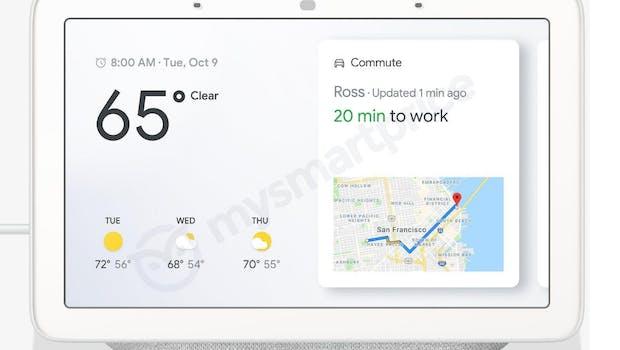 So sieht der Google-Home-Hub in Grau aus. (Bild: