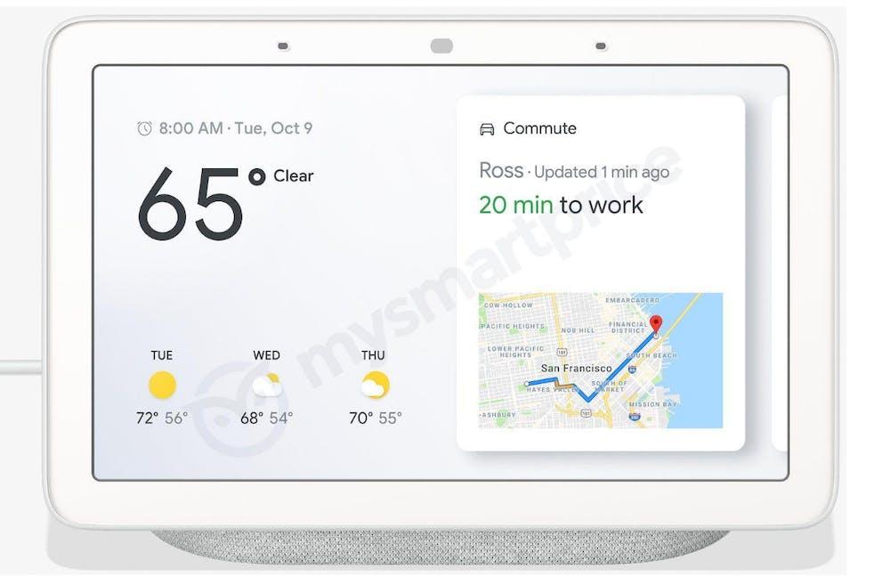 So sieht der Google-Home-Hub in Grau aus. (Bild: Mysmartprice)