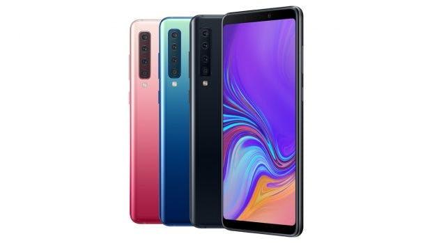 Alle Farben des Samsung Galaxy A9 (2018). (Bild: Samsung)