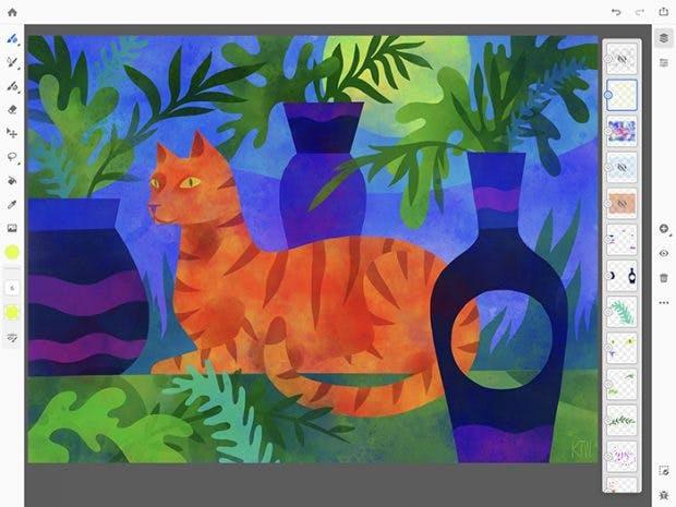 Project Gemini richtet sich an Digital-Künstler. Ein vollwertiger Illustrator-Ersatz ist es allerdings nicht. (Screenshot: Adobe)