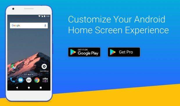 Der Apex-Launcher ist ein anpassungsfähiger Android-Launcher. (Screenshots: Google Play Store)