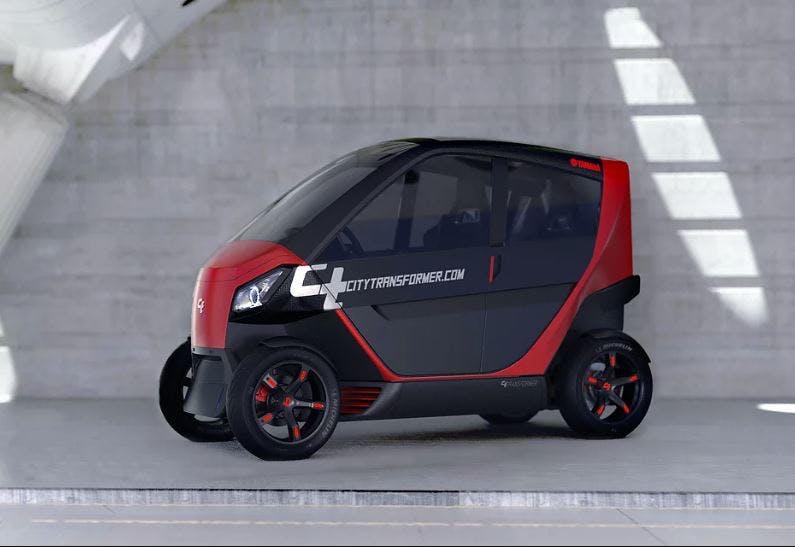 Gegen Parkplatzmangel: Das Startup City Transformer entwickelt ein faltbares Elektroauto
