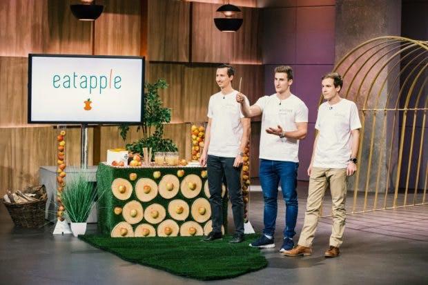 Eatapple bei DHDL: (Foto: MG RTL D / Bernd Michael Maurer)