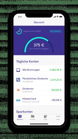 So sieht die Finanzguru-App aus. (Bild: © Finanzguru)