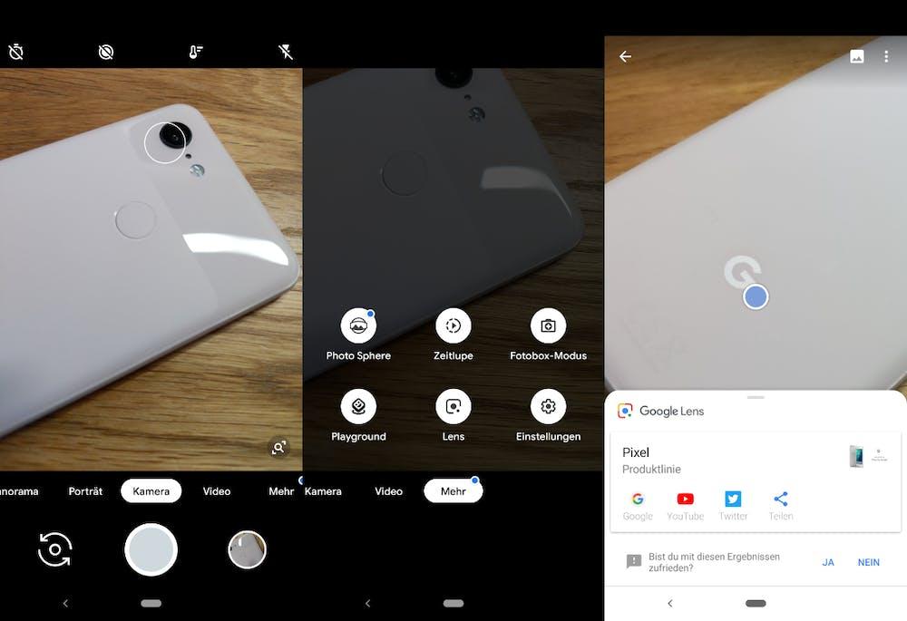 Ein Blick auf die Kamera-App des Pixel 3. (Bild: t3n.de)