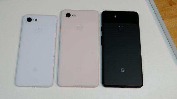 Das Google Pixel 3 wird in drei Farben angeboten. (Bild: Google)
