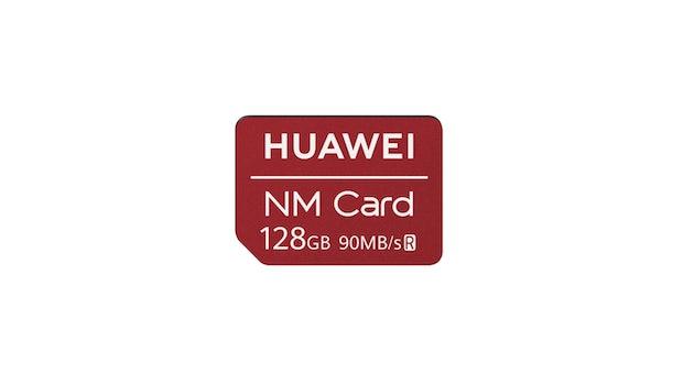 Die neue Nano-Memory-Karte von vorn ... (Bild: Huawei)