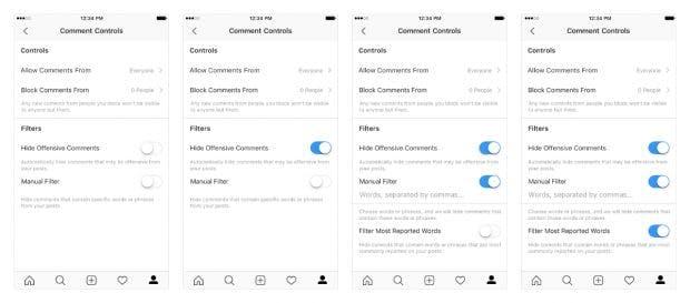 Instagram weitet Kommentarfilter auf Live-Videos aus. (Screenshots: Instagram)