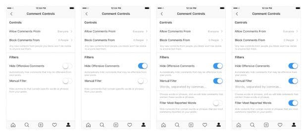 Instagram weitet Kommentarfilter auf Live-Videos aus. (Screenshots: Instagram)