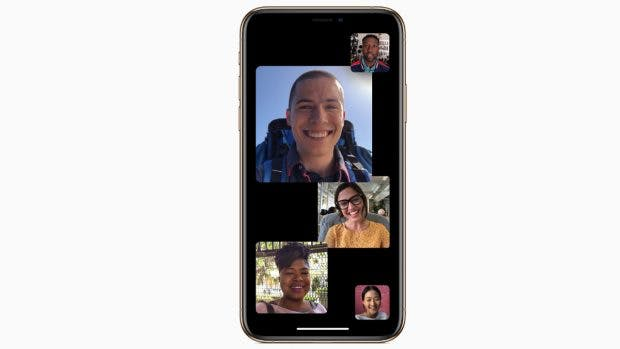 Apple integriert mit OS 12.1 die Gruppen-FaceTime-Funktion. (Bild: Apple)