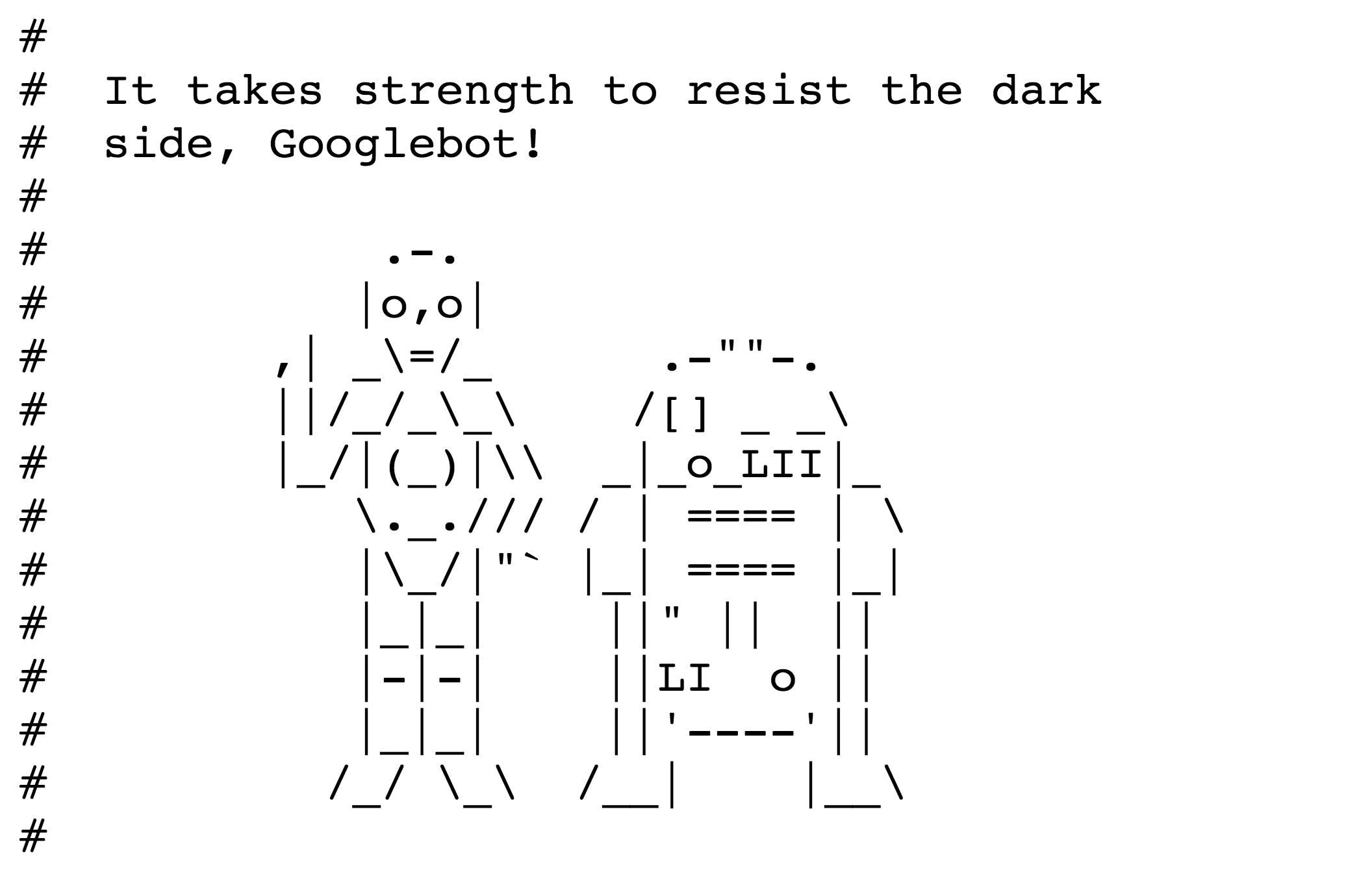 Lustige Robot Txts Sistrix T3n Digital Pioneers