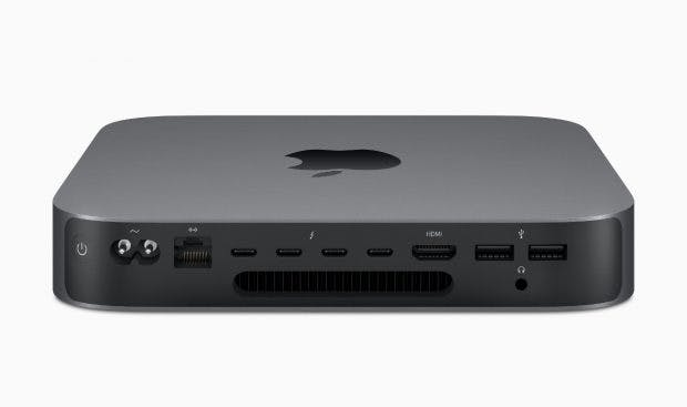 Mac Mini 2018 von hinten. (Bild: Apple)