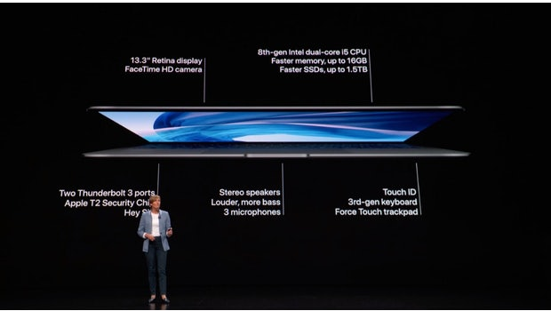 Das neue Macbook Air (2018). (Screenshot: t3n.de/Apple)