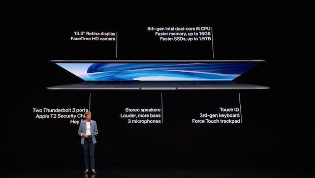 Das neue Macbook Air (2018). (Screenshot: t3n.de/Apple)