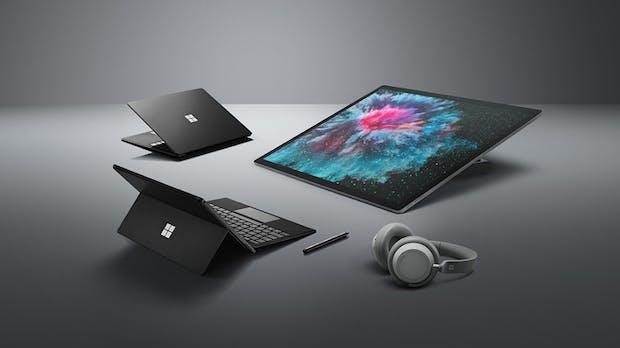 Microsoft aktualisiert Surface-Familie: Pro 6 und Laptop 2 in Mattschwarz