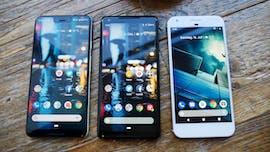 Pixel 3 XL, 2 XL und 1 XL nebeneinander. (Foto: t3n.de)