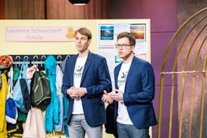 Dr. Nicolai Erbs (l.) und Patrick Schneider mit Privalino (Foto: MG RTL D)