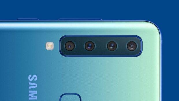Das Samsung Galaxy A9 (2018) ist das erste mit vier Hauptkameras. (Bild: Samsung)