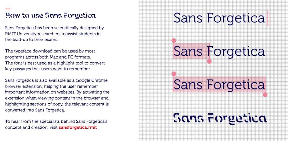 Kostenloser Font: Bei Sans Forgetica ist die schwere Lesbarkeit ein Feature und kein Bug. (Grafik: RMIT University)