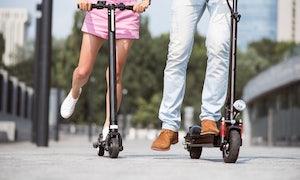 E-Tretroller bevölkern Berlins Innenstadt und Touristen-Kieze