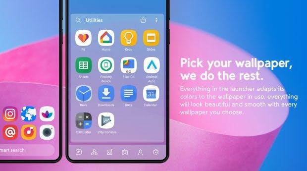 Smart Launcher 5: Cleverer Android-Launcher mit Gestensteuerung und aufgeräumter Oberfläche. (Screenshot: Google Play Store)