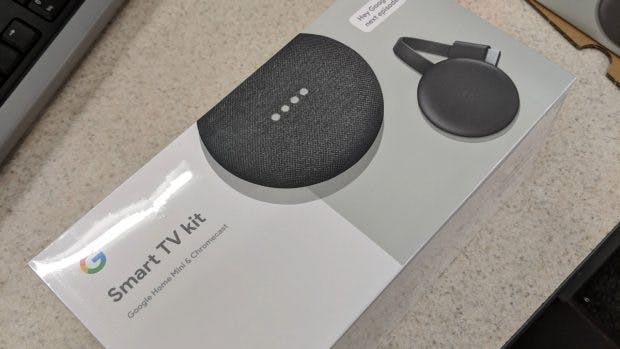 Smart TV Kit 2018: Mit Home Mini und dem neuen Chromecast. (Foto: reddit)
