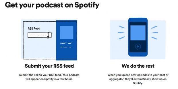 Nach nur wenigen Klicks und einer gewissen Wartezeit sollte euer Podcast bei Spotify auftauchen. (Screenshot: spotify.com/t3n)
