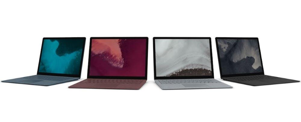 In diesen Farbtönen wird das Surface Laptop 2 angeboten. (Bild: Microsoft)