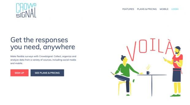 Von Automattic, der Firma hinter WordPress.com, stammt das Umfrage-Tool Crowdsignal, das früher Polldaddy hieß. (Screenshot: Crowdsignal)